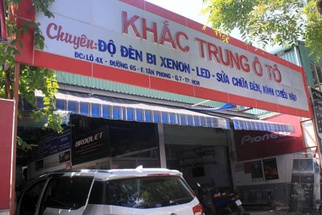 HCM - Quận 7 - Garage Khắc Trung Oto