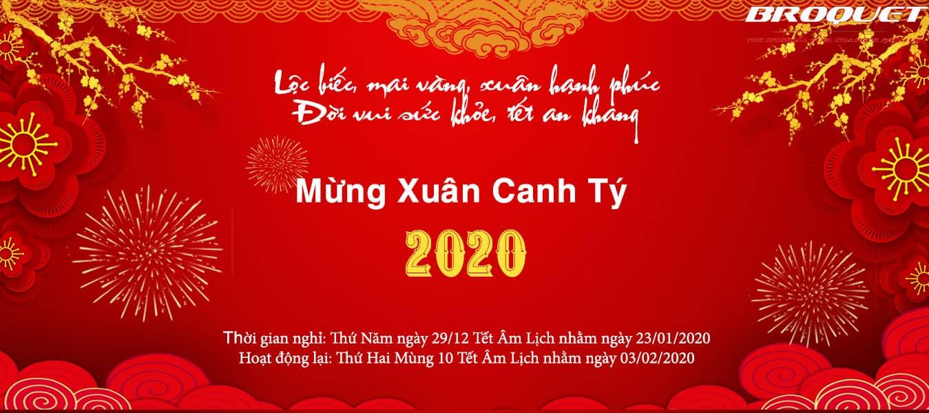 Broquet Việt Nam Chúc Mừng Xuân Canh tý 2020